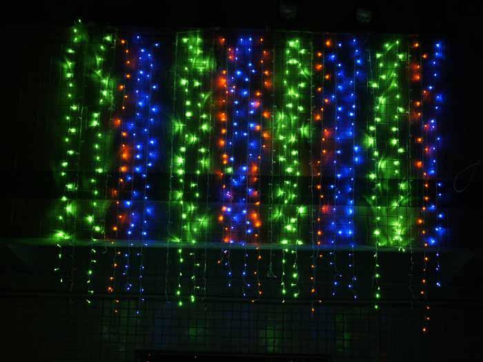 6mx3m 750led Outdoor Christmas Xmas String Fairy Wedding Curtain Light 220V / 110V