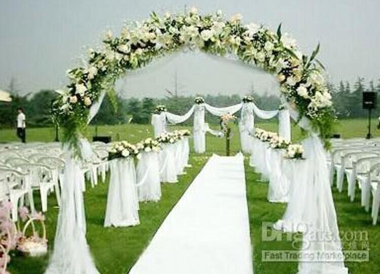 "Beach Wedding Centerpieces Favors Elegant White Organza Tulle Voile Sheer Yarn For Wedding Decorations Props Supplies 59""X110 M/roll"
