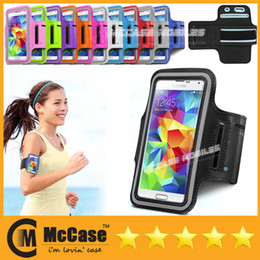 Wholesale Iphone Case Jogging - High Quality Sports Gym Armband Running Jogging WaterProof Case With Key Holder for Samsung Galaxy S5 NOTE3 iPhone 6 LG G3 HTC M8 100pcs l