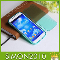 Wholesale Galaxy S4 Clear Flip Case - Clear color case with flip for samsung galaxy S3 S4 S5 Note3 transparent color both side protective cover screen dirt proof tool item