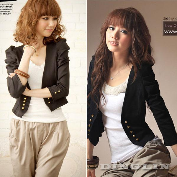 Jackets Women Outwear Tops Small Short Coat Cardigan Black Shrug ...
