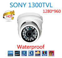 Wholesale Cctv Color Ir Dome Camera - 2014 Hot 1300TVL Color sony CMOS sensor metal camera with IR-CUT dual filter waterproof Dome security IR Camera outdoor CCTV HD Camera 960H