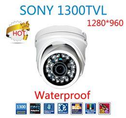Wholesale Dual Ccd Camera - 2014 Hot 1300TVL Color sony CMOS sensor metal camera with IR-CUT dual filter waterproof Dome security IR Camera outdoor CCTV HD Camera 960H
