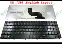 teclado mp al por mayor-Nuevo teclado de portátil para Acer Aspire 5536 5536G 5738 5810 5810T Negro Brillante Reino Unido GB Versión en inglés - MP-09B26GB-6983