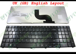 Wholesale Acer Aspire Keyboards - New Laptop keyboard for Acer Aspire 5536 5536G 5738 5810 5810T Glossy Black UK GB English Version - MP-09B26GB-6983
