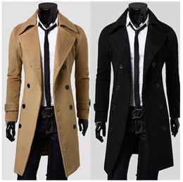 $enCountryForm.capitalKeyWord Australia - 2014 New Autumn Winter Men's Clothing Outerwear Turn down Collar Slim Men Double Breasted Wool Long Coat Overcoat in Stock XXXL