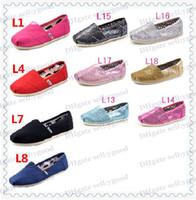 ingrosso ragazza slip-Moda Scarpe classiche comode per bambini o ragazzi di tipo femminile Scarpe basse EVA casual glitter Scarpe basse per ragazzi Sneaker Sport