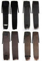 "Wholesale Wholesale Ponytail Hairpieces - synthetic Ribbon ponytail hair extensions Long Straight Steel come HairPiece 28 kinds of color available 22"",80g,10pcs lot"