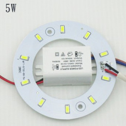 Wholesale Board Mounted - PROMOTION 5W 12W 15W 18W 23W SMD 5730 Ceiling Circular Magnetic Light Lamp AC85-265V AC220V Round Ring LED Panel board with Magnet