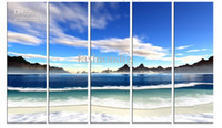 Decorazione della pittura a olio incorniciata / tesa Sea Scenery Sky Seascape Canvas Enorme dipinto a mano moderno Home Office Hotel wall art decor Liberi la nave