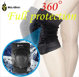 Wholesale Bike Elbow - WOLFBIKE Motorcycle Knee Protector Bicycle Cycling Bike Racing Tactical Skate Protective Knee Pads Guard High Quality 2014 latest new