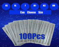 Wholesale Tattoo Kits Disposable Needles - Hot Sale 100pcs Tattoos Sterilized Tattoo Needle Disposable Needles Kit Supply RL RS F RM M1 M2 Assorted