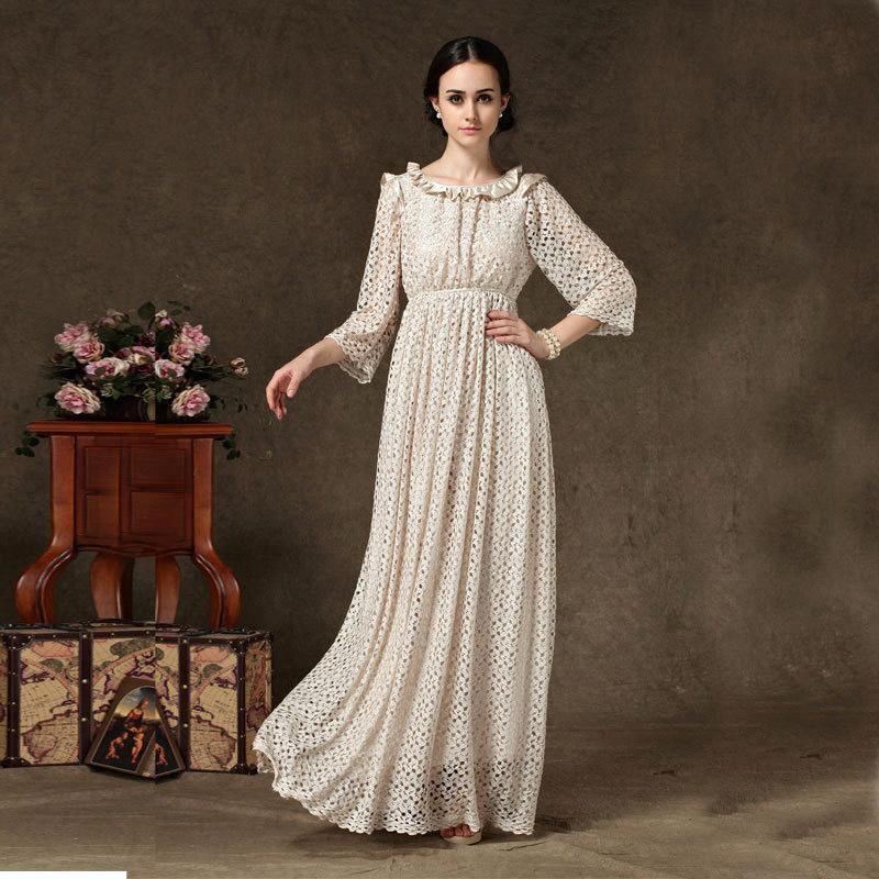Summer long dresses for plus size women