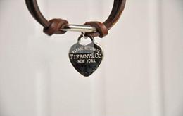 $enCountryForm.capitalKeyWord NZ - ## B150 Braclets Korean Fashion Love Heart Leather Elegant Bracelet Z440 B vintage retro