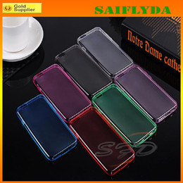 Wholesale Slim Iphone5 - Super Slim TPU soft silicon case cover shell for iphone5 iphone 5 5S for iphone 4 4s iphone 6