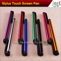 Wholesale Hot Stylus - Hot Sales Capacitive Screen Stylus Pen Pens Touch Pen 10 Colors For IPAD IPHONE Tablet PC DHL  Fedex Free shipping