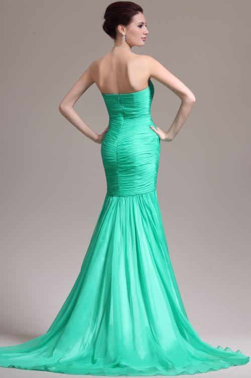 Fishtail Wedding Guest Dresses 2015 Trumpet Evening Gowns Strapless ...