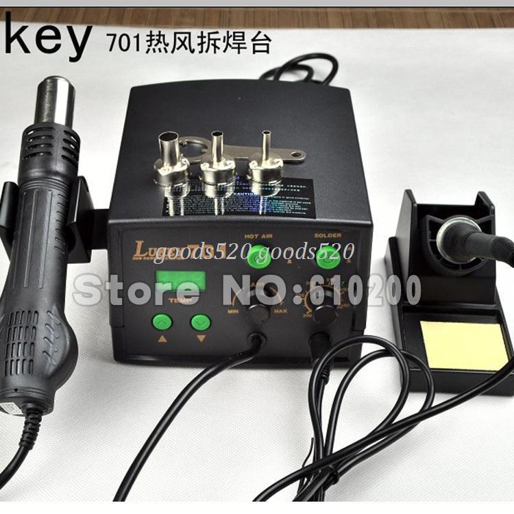 2018 Lukey 701 Digital Hot Air Rework Station Soldering Iron 220v