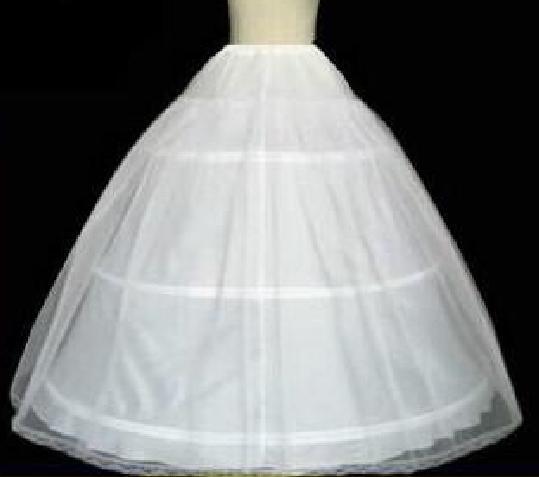 Billigaste i lager 2019 bollklänning ben full crinolin brud 3 hoop petticoats för bröllopsklänning bröllop kjol tillbehör