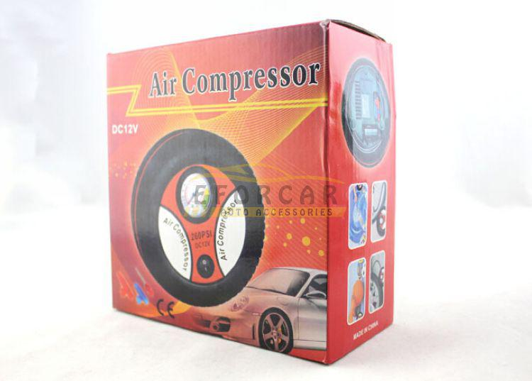 New Portable Mini Electric Tyre / Tire Inflator Air Compressor Car Auto Pump 260PSI DC12V free shipping