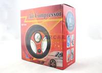 car tire pump оптовых-Новый портативный мини электрический Шин / Шин Инфлятор воздушный компрессор авто насос 260PSI DC12V бесплатная доставка