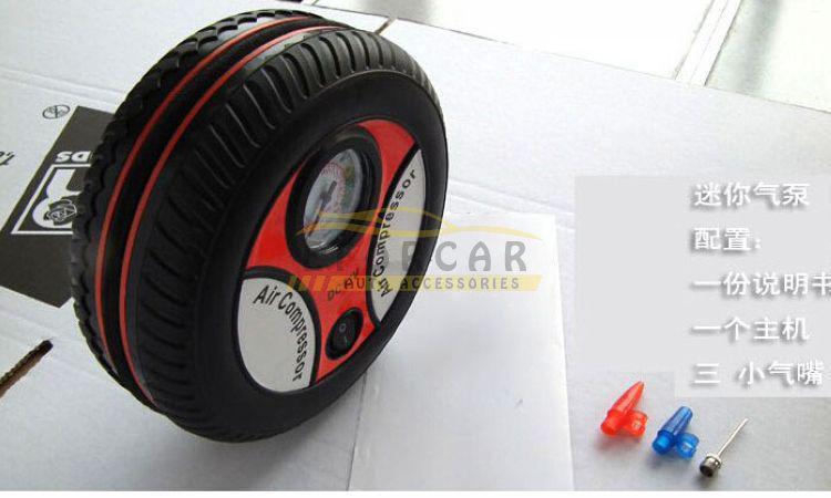 새로운 뜨거운 판매 1x 휴대용 미니 타이어 팽창기 공기 압축기 자동차 자동 펌프 260PSI 무료 배송