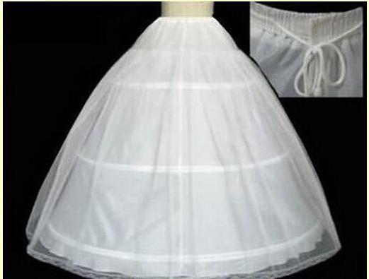 Billig auf Lager 2019 Ballkleid Bone Full Crinoline Braut 3 Hoop Petticoats für Hochzeitskleid Hochzeit Rock Brautzubehör