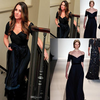 Wholesale Evening Dresses Kate Middleton - New Kate Middleton Prom Dresses With V Neck Short Sleeve Backless A Line Sweep Train Tulle Dark Navy Jenny Packham Evening Party Gowns