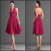 V Neck Halter Chiffon Wedding Dress Online Whole Distributors