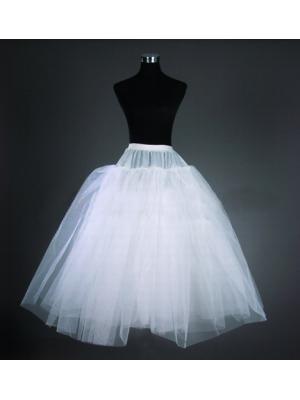 طبقتان تول أبيض قصير الزفاف التنورة الداخلية لفساتين الزفاف قصيرة رخيصة ولكن في الشحن عالية الجودة مجانا