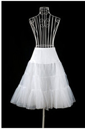 Barato Estoque Vestido De Noiva Branco Curto-2014 Novo no estoque White Hoopless Short Petticoats for Wedding Dresses Crinoline Bridal Accessories