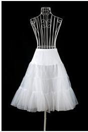 2019 الجديد في الأسهم تنورات قصيرة Hoopless الأبيض لفساتين الزفاف اكسسوارات الزفاف قماش قطني