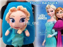 Wholesale Soft Plush Backpack Bag - frozen girl anna elsa backpacks kids backpacks bag frozen bag plush doll frozen backpack frozen bag soft plush doll kids school bags