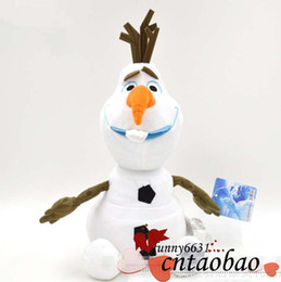 Wholesale Childrens Baby Dolls - Discount childrens toy Fro2en cartoon plush dolls stuffed animals baby plush toys OLAF MOQ=1pcs drop shipping