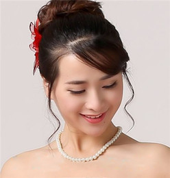 Hot Sale! 2019 Cheap Pearls Necklace Bridal Jewel Free Shipping Wedding Jewellery Bridal Accessories