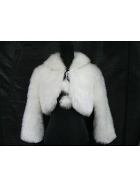 top popular Cheap! 2019 Fashion New Faux Fur Bridal Jackets Bolero Long Sleeve Evening Shrugs for Winter Wedding Popular 2021