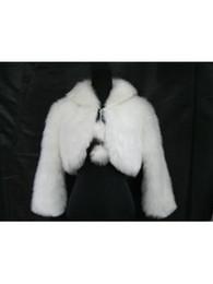 Nuevo envío gratuito de un tamaño US8 de manga larga de piel sintética blanca abrigo con chal nupcial de la boda para el invierno de 2014 desde fabricantes