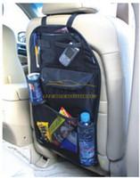 armazenamento pendurado multi bolso venda por atacado-Carro Auto Back Seat Organizer Collector Armazenamento Multi-Bolso Titular Pendurado Saco Bege Preto Frete Grátis