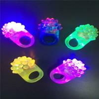 antorchas de dedo led al por mayor-LED brillante dedo luz LED anillo luces rave luz de fiesta fresa anillo LED anillo de luz antorcha anillo led linterna fiesta de halloween navidad