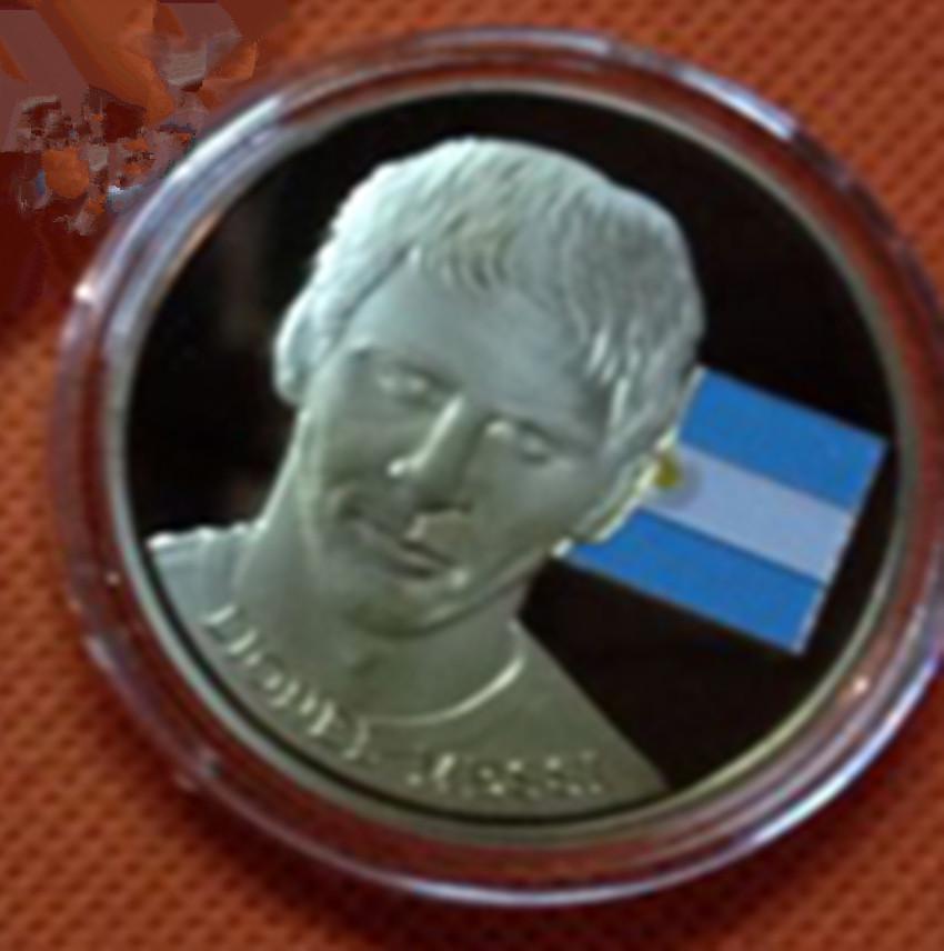 New design,The famous four football stars Messi, Robben, Neymar, Ronaldo gold plated souvenir coin ,.