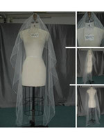 Wholesale Chapel Length Soft Tulle Veil - 2014 New Style Cheapest Free Shipping White Ivory Long Wedding Veils USA Soft Tulle Free Comb One Layer