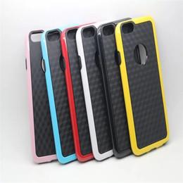 Wholesale Iphone Tpu Gel Bumper - A++ Iphone 6 Soft TPU Case Stereo Veins Dual Color Hybrid Bumper Soft Gel Cover Cases For Iphone 6 IPHONE6 Multicolor