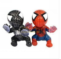 Wholesale Suction Cup Sticker - 10 X Spider-man Doll Lovely Car Window Suction Cup Hanging Doll Sucker Sticker Decals Car Decorations Accessories Free Shipping