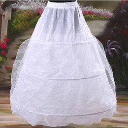 Wholesale Tulle Petticoat Wedding Dress - Wholesale - - Free shipping New White 3-Hoop 1 Layer tulle A Line petticoat Bridal Accessories wedding dresses