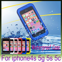 Wholesale Water Proof Iphone 5c Cases - Waterproof Case Water Proof Case Cover Shockproof for iphone6 4.7 inch 4s 5g 5s 5c with Retail Pack For iphone 6 plus