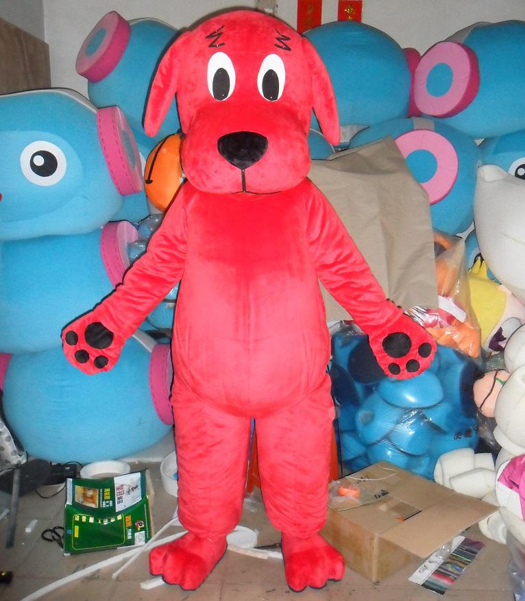with one mini fan inside the head mb007 clifford the big red dog mascot costume for adult to wear rabbit mascot costume pirate mascot costume from - Clifford The Big Red Dog Halloween Costume
