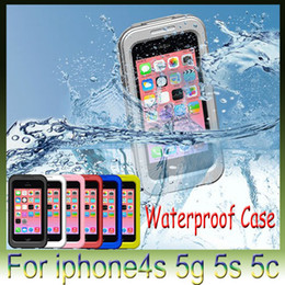 Wholesale Iphone4s Pouch - Waterproof for iphone 6 plus Colors Dirt Snow Shock Proof for iphone4s 5g 5s 5c iphone6 4.7 inch Case Cases Cell phones