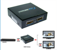 Wholesale Fashion Hot D HDMI SPlitter X2 split one HDMI input to HDMI output with power adapter