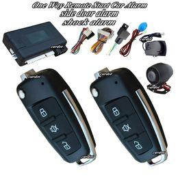 Wholesale Trunk Release Car Alarm System - cardot top remote start car alarm system flip key remote learning code 433.92mhz shock alarm and side door alarm trunk release