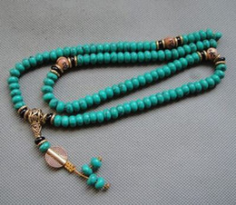 Wholesale Mala Turquoise - china tibet tibetan turquoise buddhist buddha worry prayer bead mala bracele